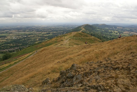 worcestershire: View of The Malvern Hills, England Stock Photo
