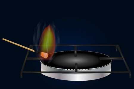 Energy conservation concept. Production, supply, use of domestic gas, methanNatural gas consumption in everyday life. Energy conservation concept. Production, supply, use of domestic gas, methane, pro