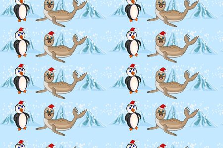 Simple colorful Pattern for printing onto fabric. Holiday wallpaper.