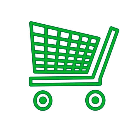 Shopping cart icon isolated on white background.