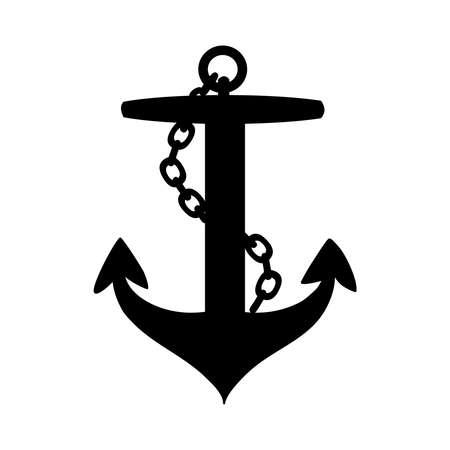 Anchor icon isolated on white background. Çizim