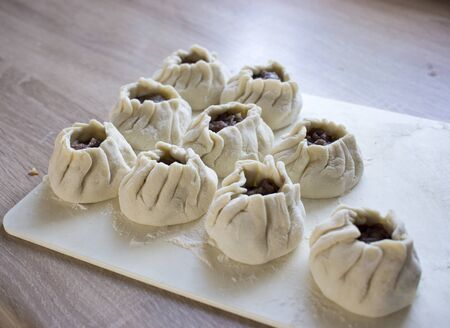 Manti is a type of dumpling popular in most Turkic cuisines, as well as in the cuisines of the South Caucasus, Central Asia more broadly, Afghanistan, and Chinese Muslims.