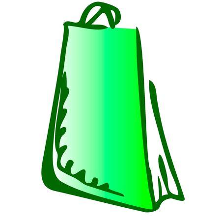 Illustration of gift pack icon on white background