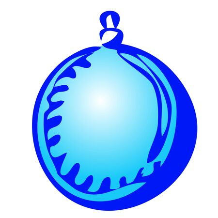 Christmas toy ball on a white background hand draw isolated Vector illustration for happy new year