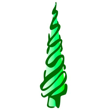 Christmas toy icicle on a white background hand draw isolated Vector illustration for happy new year