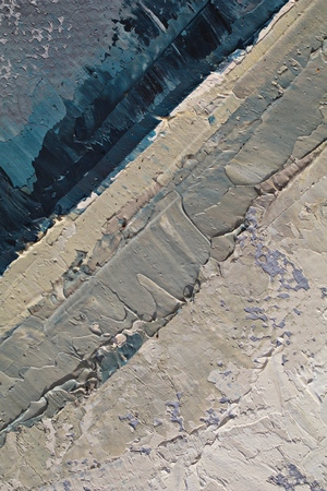 Oil Painting closeup texture background with  blue gray white colors, vivid colorful, creative for interesting backgrounds