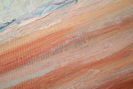 Painting closeup texture background with  red, gray, white, brown, orange  colors for vivid colorful creative backgrounds. Oil on canvas. For interesting creative backgrounds.