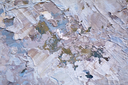 Painting closeup texture background with  blue, gray, white  colors for vivid colorful creative backgrounds. Oil on canvas.