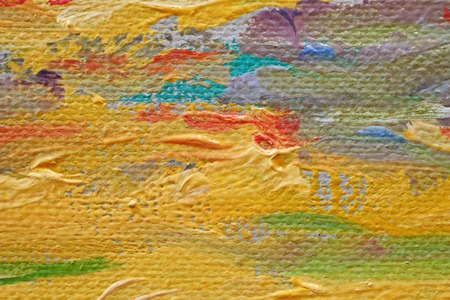 Oil Painting closeup texture background with brown, red, blue, gray, green, yellow, orange, white, purple, pink colors vivid colorful creative