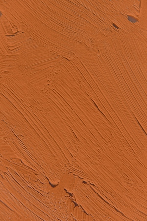 Painting close up of vivid brown color, paint brush strokes texture for interesting, creative, imaginative backgrounds. For web and design.