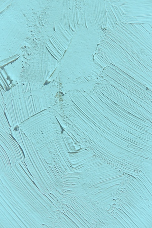 Painting close up of light blue island paradise  color, paint brush strokes  texture for interesting, creative, imaginative backgrounds. For web and design.