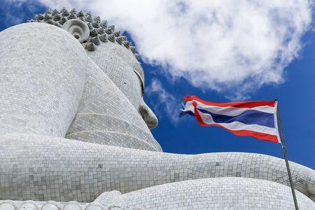 Right Side Big Buddha at Phuket of Thailand Stock Photo