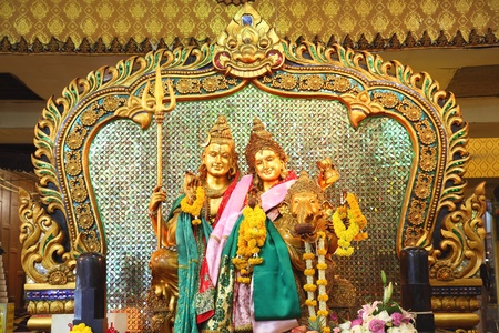 shiva: la famille de Shiva avec Pra umatewee et Ganesh