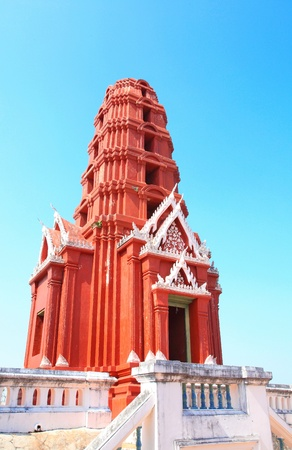 red pagoda  kao wung, petchaburi province,  photo