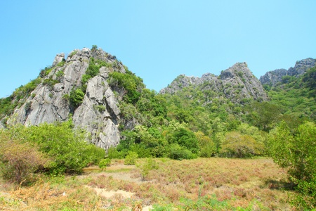 Stone mountain in southern of Thailand photo