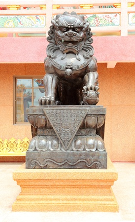 Chinese Lion statue, Thailand  Stock Photo