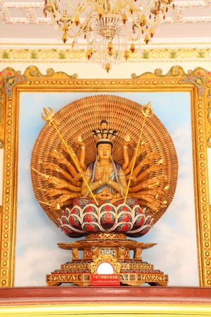 1000 hands of Guan im Buddha Stock Photo