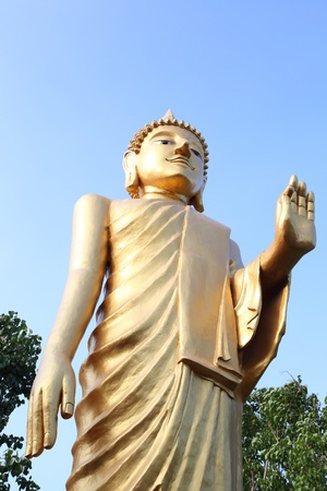 Big stand golden buddha giving mercy Stock Photo - 13067053