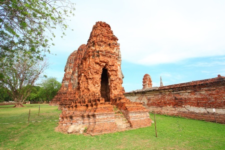 Over 200 years old pagoda in Ayutthaya province photo
