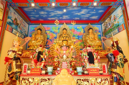 Buddha in China temple photo