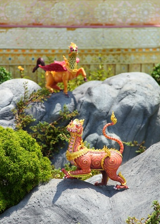 bejaratana: Himmapan animals statue, Sumeru Moutain  The religion in Brahma  Cremation of Her Royal Highness Princess Bejaratana at Sanam-Luang, Bangkok, Thailand