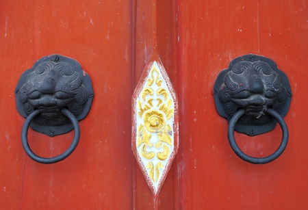 Old chinese door handle photo