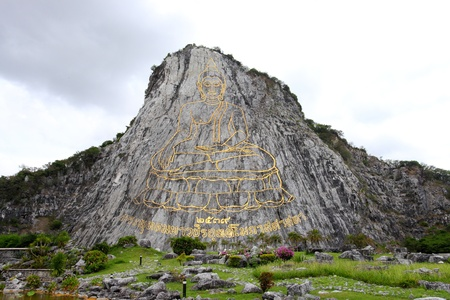 The most biggest buddha engraved with laser beam with 109 meters height  Stay at Chonburi, Thailand photo