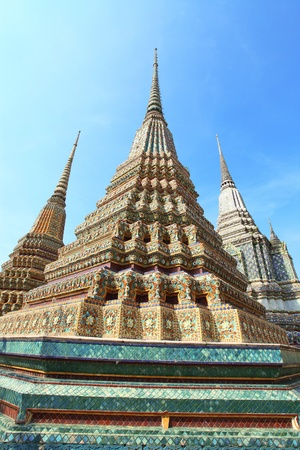 Ancient Pagoda or Chedi at Wat Pho, Thailand