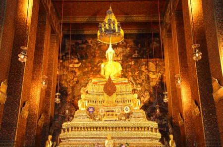 Beautiful buddha at Pho Temple, Thailand