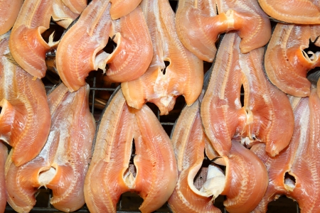 Common Snakehead fish dried  with sauce and ready for cooking in Thailand market Stock Photo - 13928959