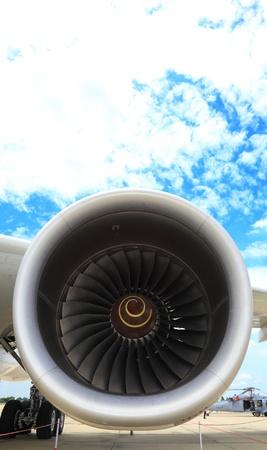 BANGKOK, THAILAND - JUNE 29: Boeing 747-400 jet engine was showed in Cerebration of 100 year of Royal Thai air force (RTAF) at Don Muang airport on June 29,2012 in Bangkok, Thailand