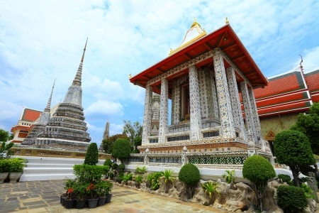 BANGKOK, THAILAND - JULY 7: The over 200 years ancient temple and pagoda wait for travel and worship of Thai people at Arunratchawararam temple  on July 7,2012 in Bangkok, Thailand