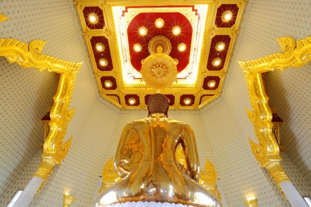 BANGKOK, THAILAND - JULY 2 :The most highest intrinsic value gold Buddha which weight estimated around 5 12 tonnes or around $ 21.1 million at Trimitr temple on July 2,2012 in Bangkok, Thailand