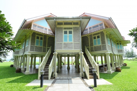verandas: PETCHBURI,THAILAND - OCTOBER 13:The palace of Love and Hope, the Mrigadayavan Palace was the summer retreat house for His Majesty King Rama VI at Cha-Am on October 13,2012 in Petchburi,Thailand