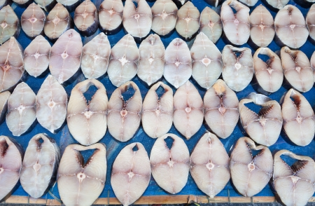 Dried Spanish mackerel   Scomberomorus  ready for sale in street market of Thailand Stock Photo - 17048233