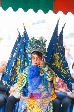 liberating: BANGKOK,THAILAND- NOVEMBER 28: Chinese opera dancers was showing the dance on King Taksin day who liberating Siam at Wat Aroonratchawararam temple on December 28,2012 in Bangkok,Thailand