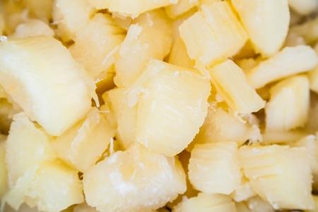 Sweet Cassava in syrup, dessert in Thailand Stock Photo