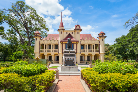 NAKORNPRATHOM,THAILAND-AUGUST 25:The direction of view of Sanam Chandra Palace where is the ancient and popula for Thai&foreigner to visit at Nakornprathom on August 25,2014 in Nakornprathom,Thailand
