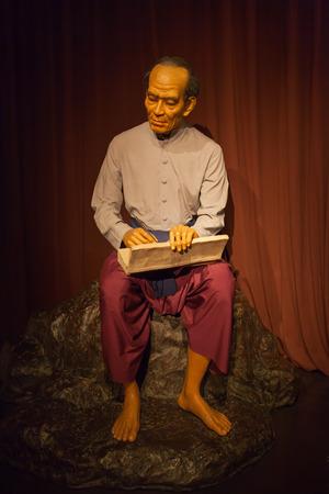 NAKORNPRATHOM,THAILAND-AUGUST 25: Sunthorn Phu is the most famous Thai poet was show at Thai Human Imagery Museum on August 25,2014 in Nakornprathom,Thailand