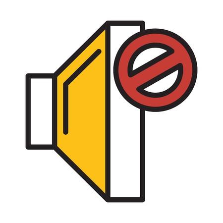 Vektor-Stummschaltungssymbol