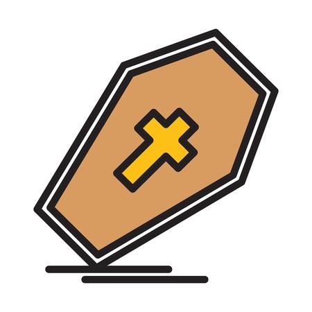 vector coffin icon Ilustracja