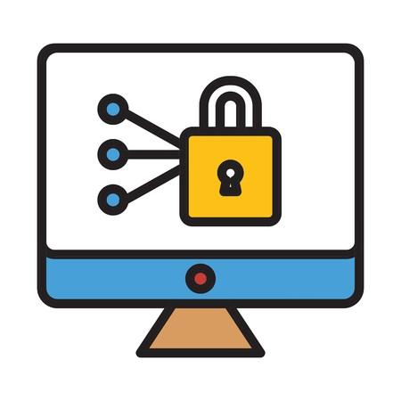 vector locked icon