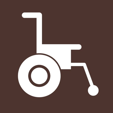 Vector Wheel chair Icon