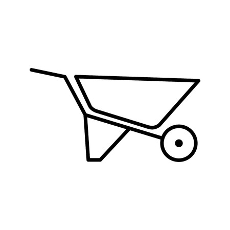 Vector Wheelbarrow Icon Çizim