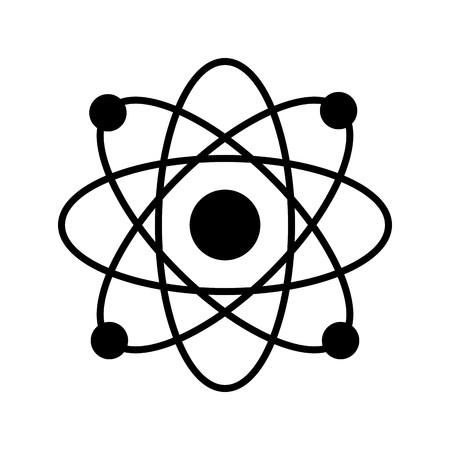 Vector Atom Stracture Icon Иллюстрация