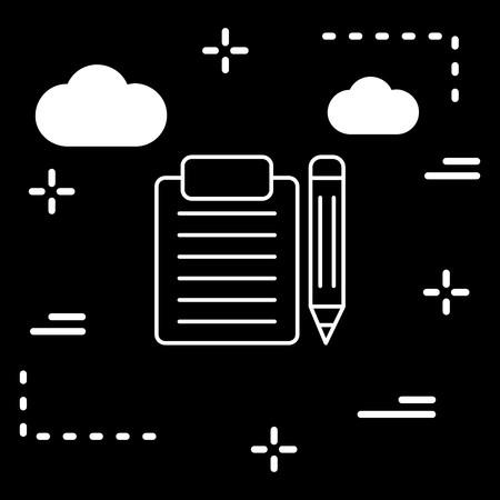 Vector Clip board And Pencil Icon