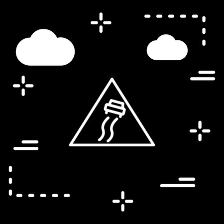 Vector Slippery Road Sign Icon