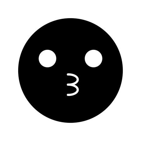 Vector Kiss Emoji Icon