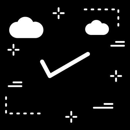 Vector Tick Icon Çizim