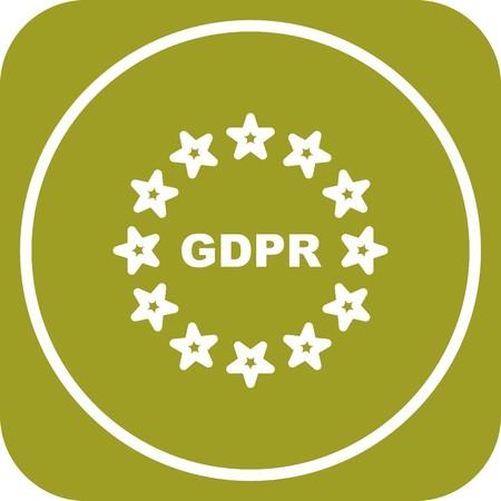 Vector GDPR Symbol Privacy Icon Illusztráció